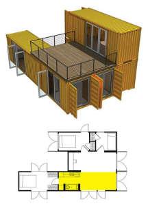 Дачный дом из нескольких контейнеров проект 13