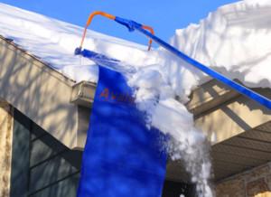 уборщик снега с крыши