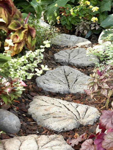 камни - листья для дорожек