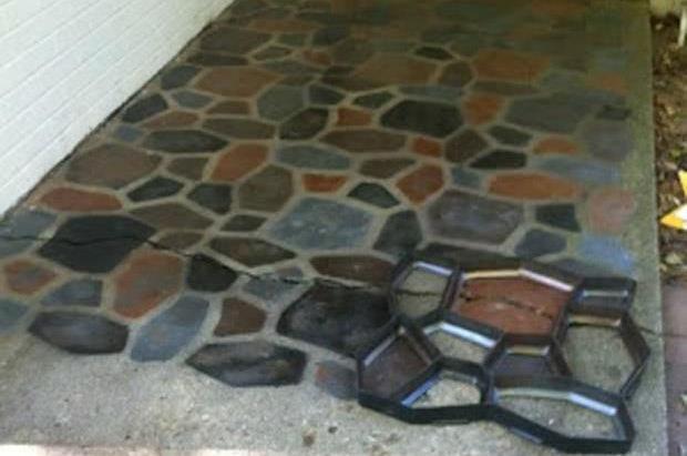 бетонная дорожка для дачи