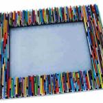 рамка из бумаги для зеркала