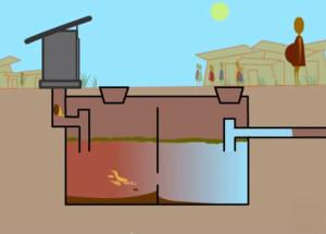 схема работы туалетного септика