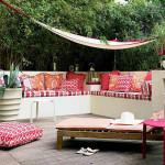 Тент на даче для комфортного отдыха летом