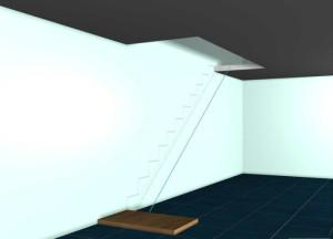 делаем разметку для лестницы
