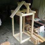 деревянный каркас коптильни