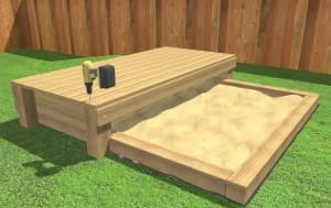 монтаж поверхности скамейки