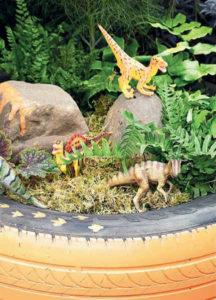 сад динозавров фото