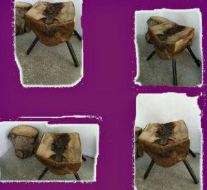 стул из бревна фото 1