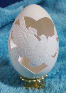 резьба на гусиных яйцах фото