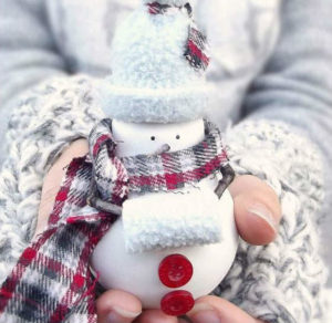 снеговик из лампочки фото 1