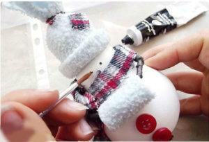 снеговик из лампочки фото 2